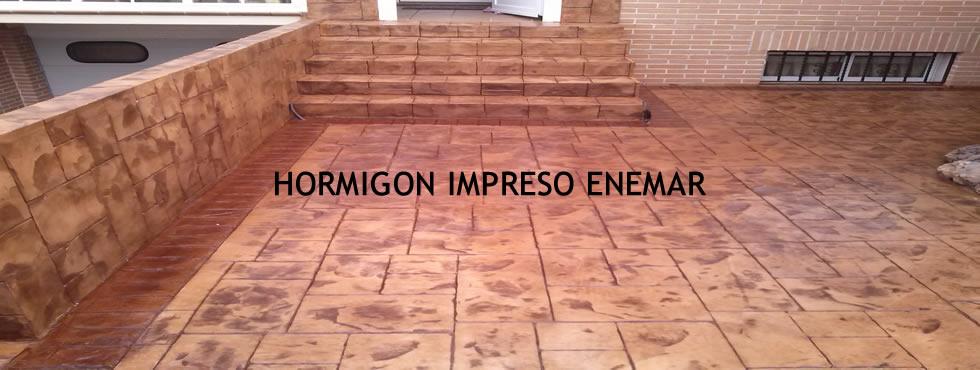 Hormigón impreso Segovia empresa Enemar